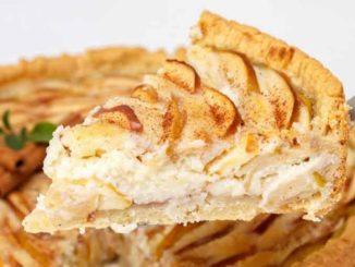 Рецепт яблочного пирога со сметанной заливкой