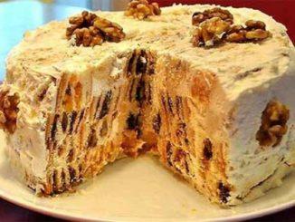Домашний торт Трухлявый пень