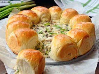 Как приготовить булочки с сырно-грибной начинкой