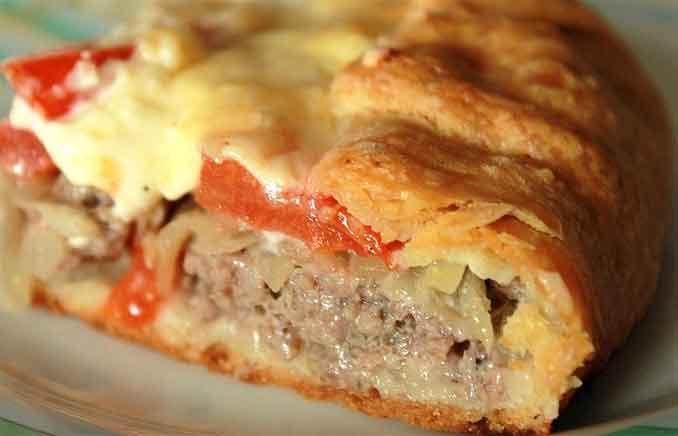 Как приготовить мясной пирог на картофельном тесте