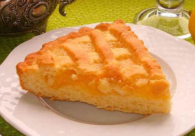 Песочный лимонный пирог - настоящий шедевр!