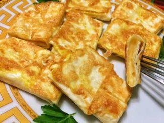 Как приготовить вкусный завтрак - лаваш с сыром