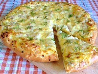 Домашняя пицца с вкуснейшим, нежным тестом