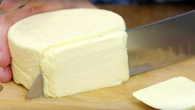 Домашний сыр из трех ингредиентов