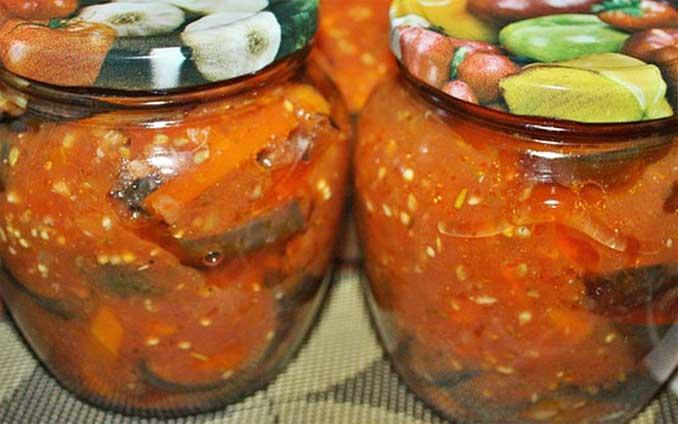 Баклажаны в томатной заливке - моя любимая заготовка на зиму!