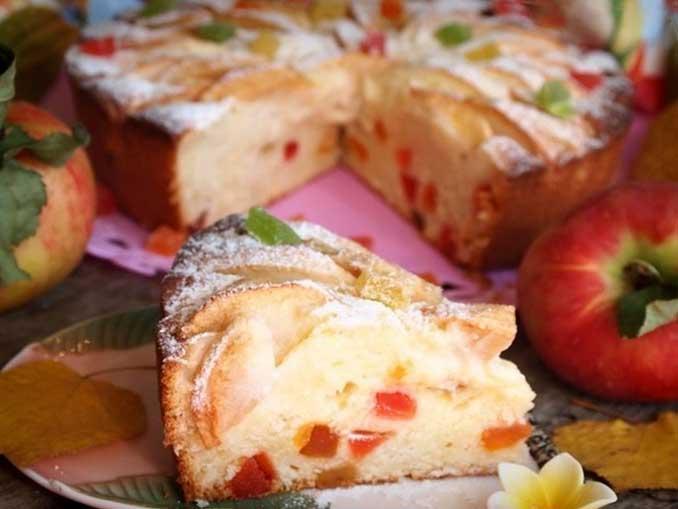 """Яркий, вкусный и ароматный творожно-яблочный пирог """"Краски осени"""""""