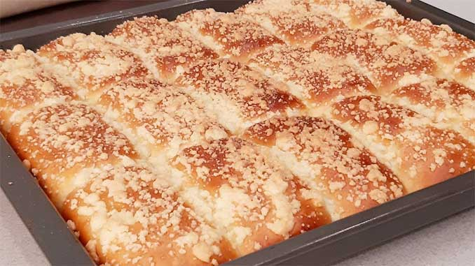 Домашние сладкие пирожки с хрустящей крошкой