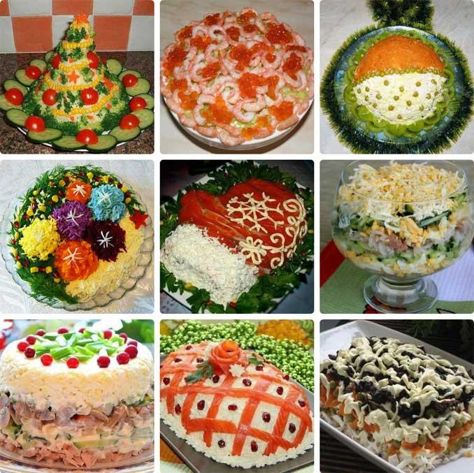 Рецепты красивых и вкусных праздничных салатов