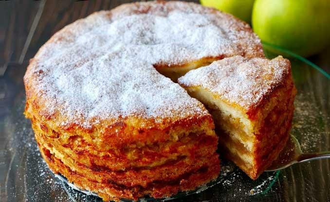 """Яблочный пирог """"Три стакана"""" - изумительно вкусный!"""