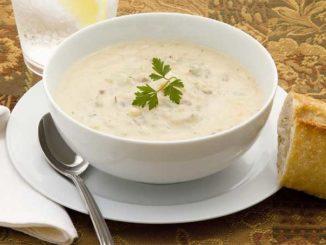 Вкуснейший сливочный суп с белой фасолью