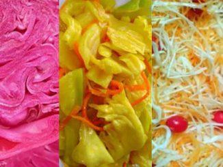 Разноцветная маринованная капуста