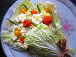 """""""Букетик для любимой"""": оригинальный салат на 8 марта!"""
