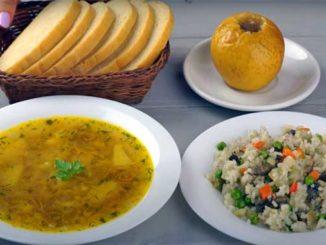 Постный обед из трех блюд за 30 минут!
