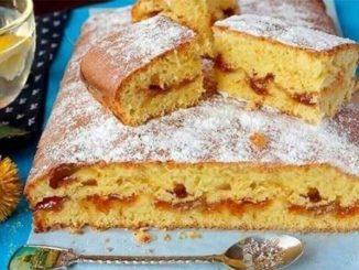 Пирог с вареньем - просто, быстро и очень вкусно!