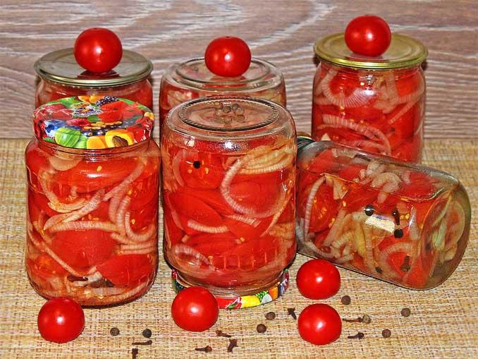 Кто любит луком похрустеть? Обалденные томаты на зиму!